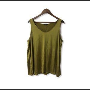EUC Eileen Fisher silk blend Sleeveless blouse
